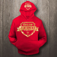 Red and Gold Dream Finisher Hoodie