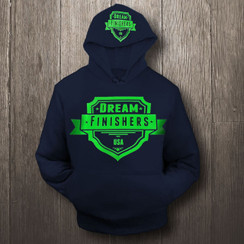 Neon and Navy Blue Dream Finisher Hoodie