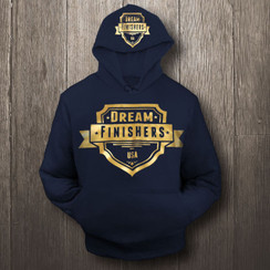 Gold and Navy Blue Dream Finisher Hoodie