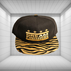 Dream Finisher Snapback Gold and Black Striped Zebra Print