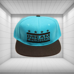 Dream Finisher Snapback Turquoise Blue and Black