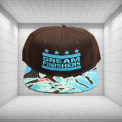 Dream Finisher Snapback Turquoise Blue Floral and Black