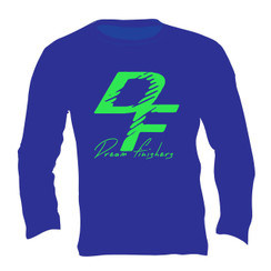 Dream Finisher Long Sleeve Royal Blue and Neon Green