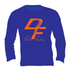 Dream Finisher Long Sleeve Royal Blue and Orange