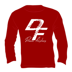 Dream Finisher Long Sleeve Cardinal Red and White