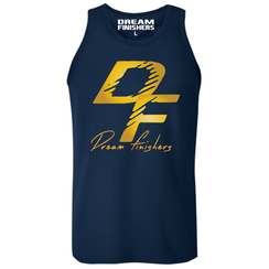 Dream Finishers Tank Top Elite Navy Blue and Gold
