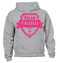 Grey and Pink Dream Finisher Hoodie