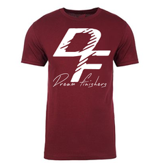 Dream Finishers Maroon shirt with white DF logo