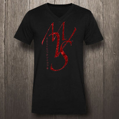 Black & Red Motivational Ville Society MVS in Red Glitter- Men