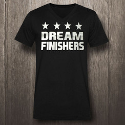 Black & Silver Dream Finishers Fitness- Men