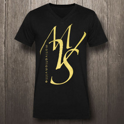 Black & Metallic Gold Motivational Ville Society MVS - Men