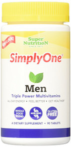 SuperNutrition Simply One Men's Multivitamin Tablet, 90 Count