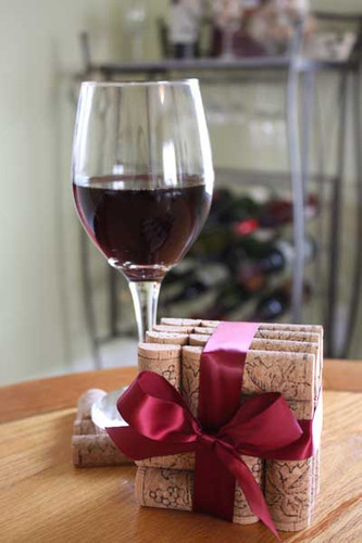 Wine Cork Coasters - CorkeyCreations.com