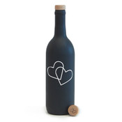 Wine Bottle Stopper - Double Heart - CorkeyCreations.com