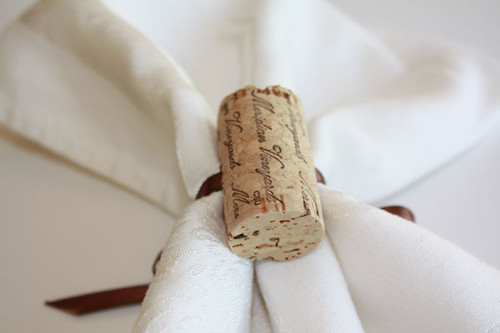 Variety 0f Wine Cork Napkin Rings - CorkeyCreations.com