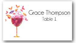 Place Cards - Butterflies and Wine - CorkeyCreations.com