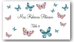 Place Cards - Butterflies - CorkeyCreations.com