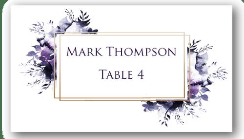 Place Cards - Dark Purple - CorkeyCreations.com