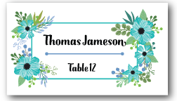 Place Cards - Green Floral Box - CorkeyCreations.com
