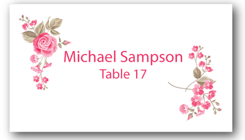 Place Cards - Roses - CorkeyCreations.com