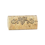 Wine Cork Place Card Holder - Grape Swirls
