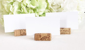 Variety of Wine Cork Place Card Holders