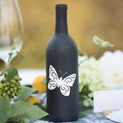 Butterfly Wine Bottle Vinyl Decals - CorkeyCreations.com
