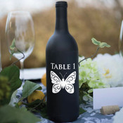 Butterfly Table Number Wine Bottle Decals