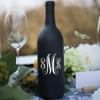 Fancy Monogram Wine Bottle Vinyl Decal - CorkeyCreations.com