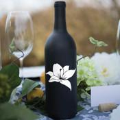 Flower Wine Bottle Vinyl Decal - CorkeyCreations.com
