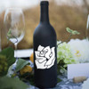 Rose Wine Bottle Vinyl Decal - CorkeyCreations.com