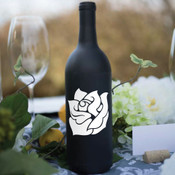 Rose Wine Bottle Vinyl Decal - CorkeyCreations.com