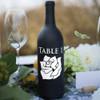 Rose Wine Bottle Table Number Vinyl Decals - CorkeyCreations.com