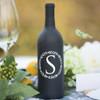 Wreath Single Initial Wine Bottle Vinyl Decal - CorkeyCreations.com