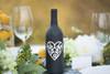 Heart Wine Bottle Vinyl Decal - CorkeyCreations.com