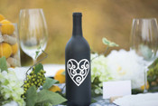 Heart Wine Bottle Vinyl Decal - CorkeyCreations.com