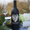 Heart Name and Date Wine Bottle Vinyl Decals - CorkeyCreations.com