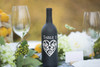 Heart Table Number Wine Bottle Decal - CorkeyCreations.com