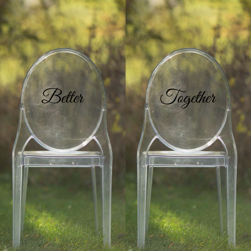 Better Together Vinyl Chair Back Decor - CorkeyCreations.com