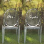 Better Together Vinyl Chair Back Decor - CorkeyCreations.com