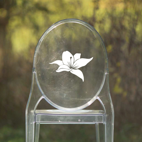 Flower Vinyl Chair Back Decor - CorkeyCreations.com