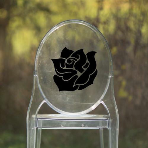 Rose Vinyl Chair Back Decor - CorkeyCreations.com