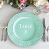 Table Number Charger Plate Vinyl Decal - CorkeyCreations.com