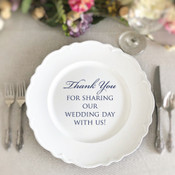 Thank You Charger Plate Vinyl Decal - CorkeyCreations.com