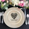 Swirl Heart Charger Plate Vinyl Decal - CorkeyCreations.com