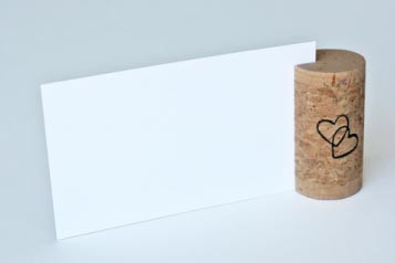 Single Vertical Wine Cork Place Card Holders - CorkeyCreations.com