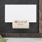 Magnetic Wine Cork Place Card Holders - Corkey Creations