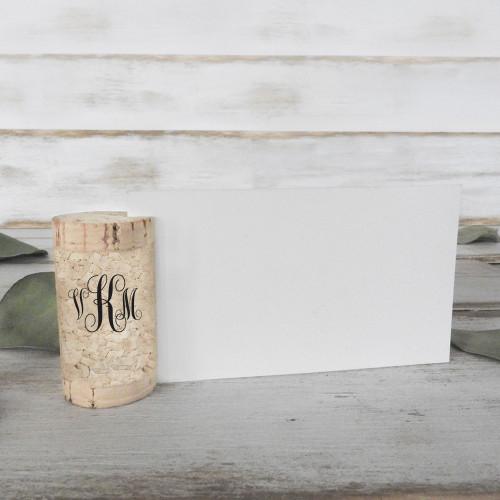 Wine Cork Place Card Holders - Single Vertical - CorkeyCreations.com