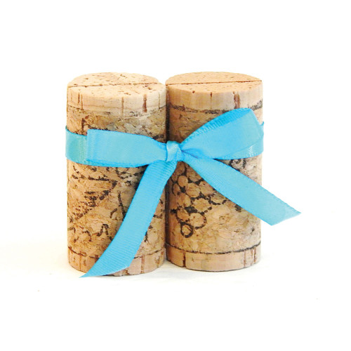 Double Vertical Wine Cork Place Card Holders - CorkeyCreations.com