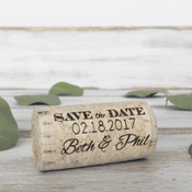 Save The Date Whole Corks - Option 1 - CorkeyCreations.com